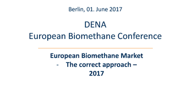 Panel I: Update on European biomethane markets