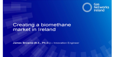 Panel I: Creating a biomethane market in Ireland - status and outlook