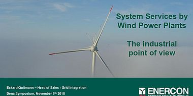 System Services By Wind Power Plants - The industrial point of view