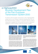 Factsheet: e-Highway2050. Modular Development Plan of the Pan-European Transmission System 2050.