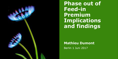 Workshop II: Phase out of Feed-in Premium  – implications and findings