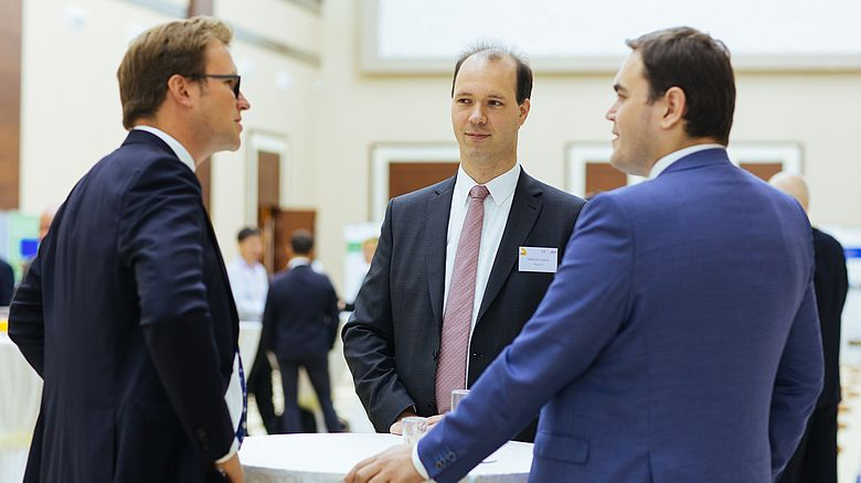 Networking beim German Energy Dialogue.