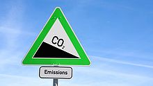 Warnschild CO2