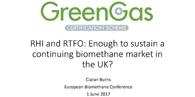 Panel I: New RHI and RFTO - enough for sustaining the market development in the UK?