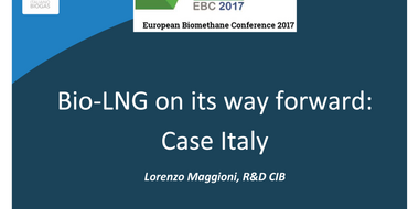 Panel II: Bio-LNG on its way forward: Case Italy