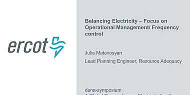 Balancing Electricity – Focus on Operational Management/Frequency Control